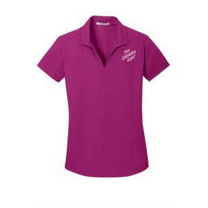Ladies Magenta Polo Shirt with The Salvation Army Embroidery