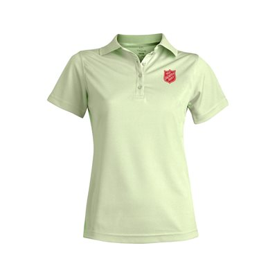 Ladies Cucumber Green Polo Shirt With Embroidered Shield