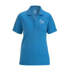 Ladies Marina Blue Polo Shirt With The Salvation Army Embroidery