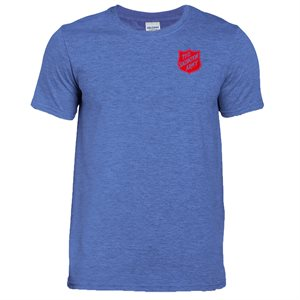 Heather-Royal T-shirt with Red Shield