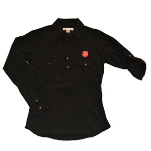 Women's Double Pocket Shirt with Shield
