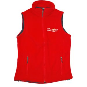 Womens Red Fleece Vest w /  TSA