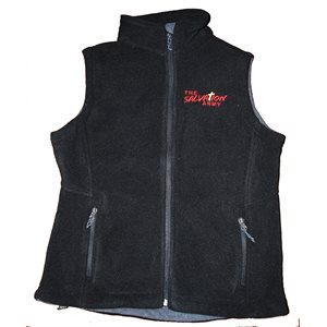 Ladies Black Fleece Vest w / TSA