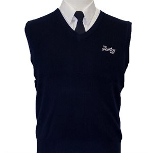 Navy Blue Sweater Vest With The Salvation Army Embroidery