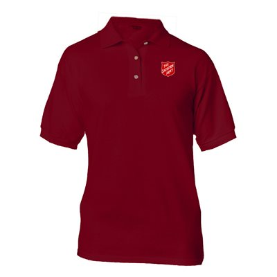 Maroon Polo Shirt w / Shield