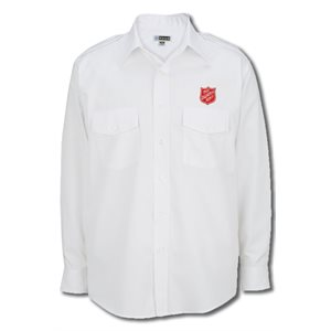 Men's Long Sleeve Navigator Uniform Shirt with Embroidered Shield