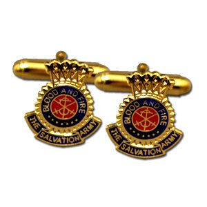 CUFF LINKS 3 COLOR CREST GOLD