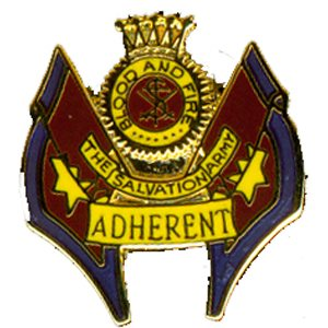 ADHERENT PIN CREST & FLAG