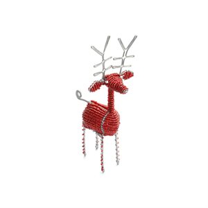 Beaded Red Reindeer Small