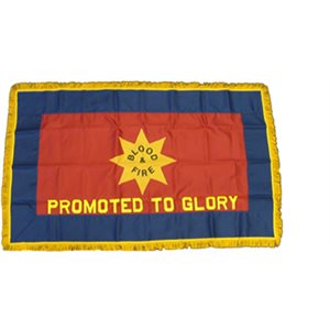Salvation Army Blood & Fire Flag w / Promoted to Glory