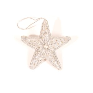 Christmas Star  Ornament Silver  Pakistan