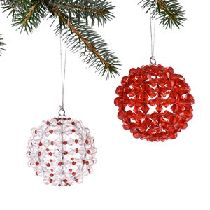 Beaded Christmas ball (pack of 2) Bangladesh