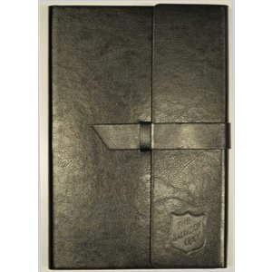 Black Leather journal w / embossed shield