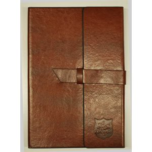 Brown Leather journal w / embossed shield