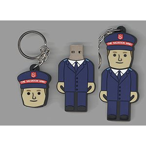 FLASH DRIVE 4GB MALE OFFICER