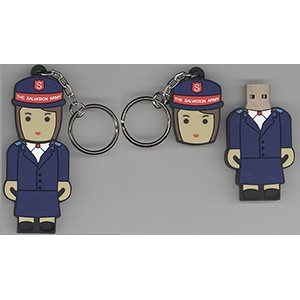 FLASH DRIVE 4GB FEMALE OFFICER