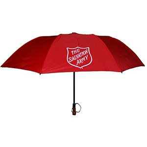 Red Golf Umbrella with Shield
