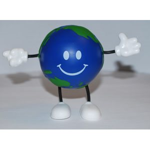 Happy Globe Stress Squeeze