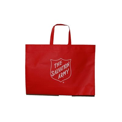 TOTE BAG RED WITH SHIELD