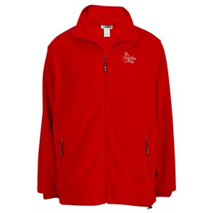 Men's Red Fleece Jacket with The Salvation Army Embroidery