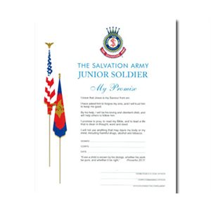Jr Soldier Pledge Card / Cert 2010