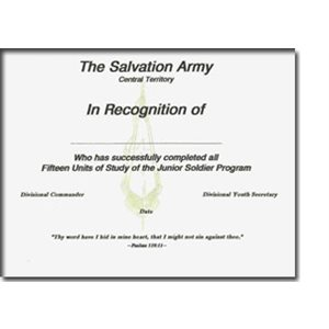 Jr Soldier Certificate