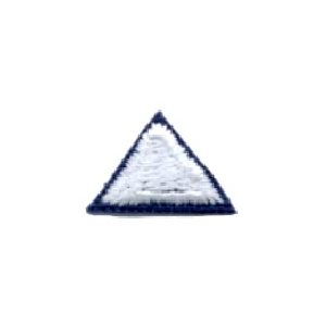 Sb Badge White Triangle