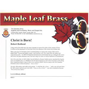 Maple Leaf Brass #15 - Christ Is Born!