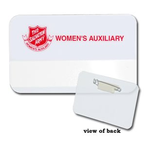 NB WOMEN'S AUXILIARY PLASTIC NAME BADGE W / SLOT