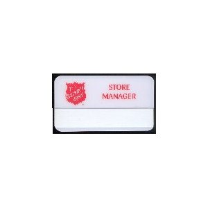 Badge, Thrift Store Manager