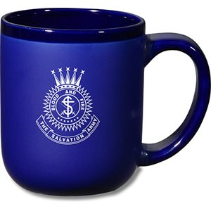 Cobalt Blue Mug with Crest