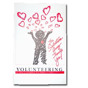 VOLUNTEER POSTERS HEARTS