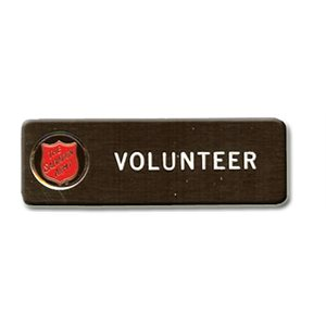 VOLUNTEER NAME TAG WITH SHIELD DS