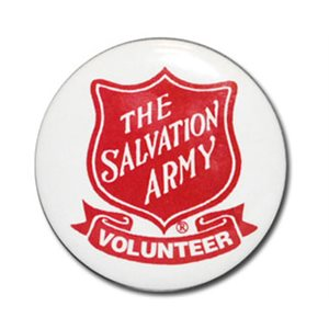 VOLUNTEER BADGE BUTTON W / SHIELD