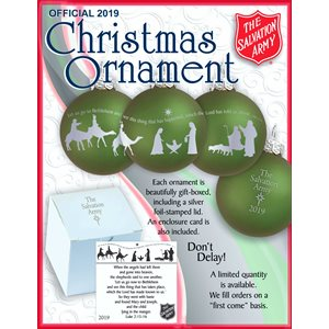 2019 Christmas Ornament (Case Of 24)