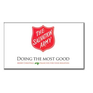 "Kettle Sign 14"" X 22"" 'Doing The Most Good' Heavy Paperboard"