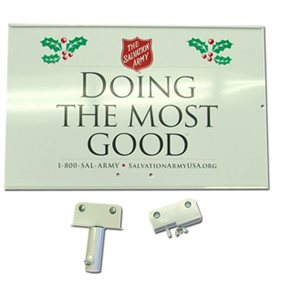 Metal 'Doing The Most Good' Sign For Gooseneck & Indoor Tripod