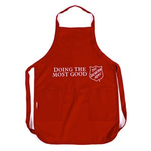 Red 'Heavy Duty' Apron w / Doing the Most Good (Others)