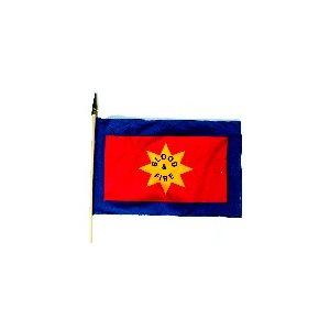 "Small Blood & Fire 12"" x 18"" grave flag"