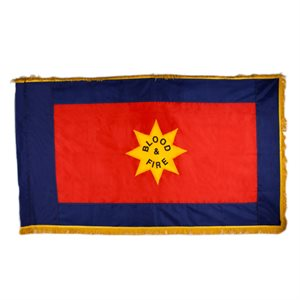"The Salvation Army ""Blood & Fire"" Indoor 4' X 6' Flag With Fringe"