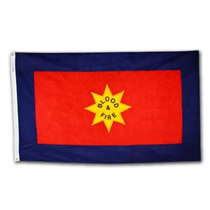 "The Salvation Army ""Blood & Fire"" Outdoor Flag 5' X 8'"