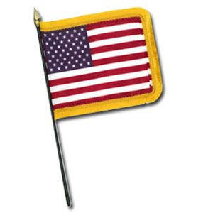 United States Table Topper Flag With Fringe