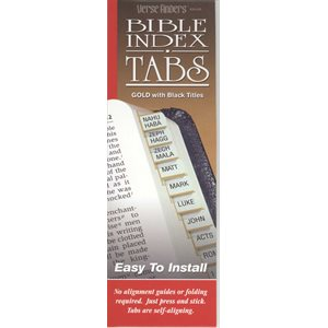 Bible index tabs gold w / black
