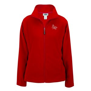 Ladies Red Fleece Jacket with The Salvation Army Embroidery