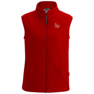 Ladies Red Fleece Vest with The Salvation Army Embroidery