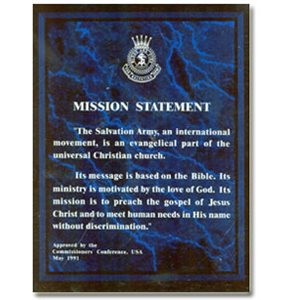 Plaq Mission Statement Blu Crest
