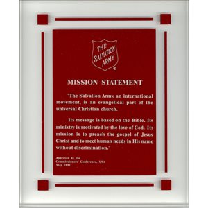 Mission Statement Plaque with Red Shield