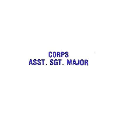 INS ASSISTANT CORPS SERGEANT MAJOR INSIGNIA ID