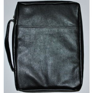 BIBLE COVER BLK XL IMITATION LEATHER