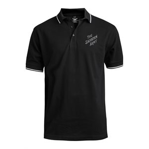 Black Polo Shirt With The Salvation Army Embroidery